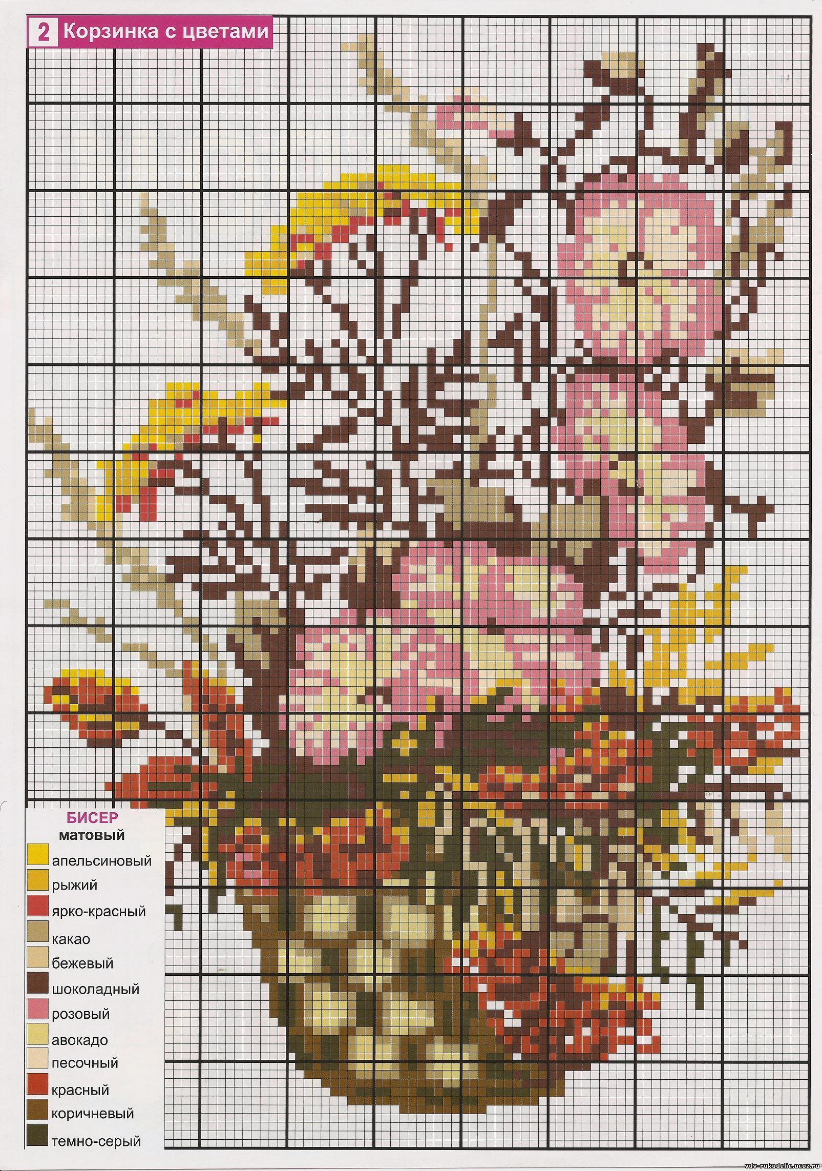 h вышивку со схемой бабочки и цветы